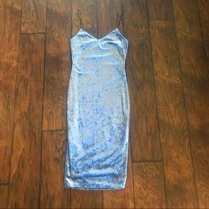 Lk New Baby Blue Cinderella Bodycon Midi Dress S